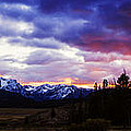 Sawtooth Sunset Panorama by Vishwanath Bhat
