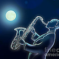 Sax-o-moon by Peter Awax