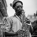 Saxophone Musician New Orleans by David Morefield