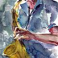 Saxophonist by Faruk Koksal