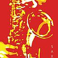 Saxy Red Poster by David Davies