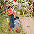 Say A Nice How Do You Do To Your Uncle by Carl Larsson