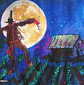 Scarecrow Dancing With The Moon by Seth Weaver