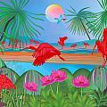 Scarlet Party - Limited Edition 1 Of 20 by Gabriela Delgado