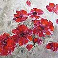 Scarlet Poppies by Galina Khlupina