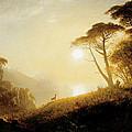 Scene In Yosemite Valley by Albert Bierstadt