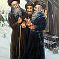 Scenes Of Jewish Life 4 by Haim Buhel