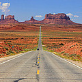 Scenic Road Into Monument Valley by Johnny Adolphson