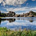 Scenic Sylvan Lake At Custer State Park by Debra Martz