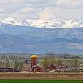 Scenic View Looking Over Anderson Farms Up To Rockies by James BO  Insogna