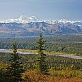 Scenic View Of Alaska Range And by Jeff Schultz