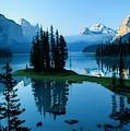 Scenic View Of Maligne Lake In Jasper by Raymond Gehman