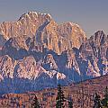 Scenic View Of Sunrise On Mooses Tooth by Kevin Smith