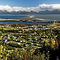 Scenic View Overlooking The Town Of by Bill Scott