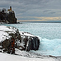 Scenic Winter Lighthouse by James Peterson