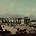 Schloss Schonbrunn, 1759-60 Oil On Canvas by Bernardo Bellotto