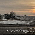 Schone Feiertage With A Winter Sunrise by Imagery by Charly