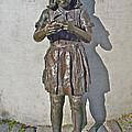 School Girl Sculpture In Saint John's-nl by Ruth Hager