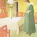 School Household, Dining Room Scene by Carl Larsson