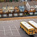 Schoolbuses And Colorful Houses - Atlanta - Georgia by Luciano Mortula