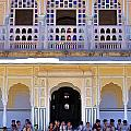 Schoolchildren At The Women's Palace - Jaipur India by Kim Bemis