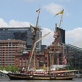 Schooner Arriving At Baltimore Inner Harbor by Christiane Schulze Art And Photography