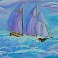 Schooner On The High Seas by Sally Jones