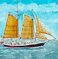 Schooner Spirit Of Independence by Vic Delnore