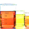 Scientific Beakers In Science Research Lab by Science Research Lab By Olivier Le Queinec
