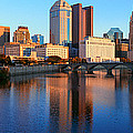 Scioto River And Columbus Ohio Skyline by Panoramic Images