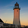 Scituate Lighthouse In Oct by Jeff Folger