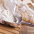 Scoop Of Flour And Fresh Bread by Sophie McAulay