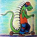 Scooter Iguana by David Francke