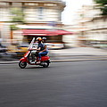 Scooter In Paris by Hans Heinz