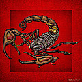 Scorpion On Red by Serge Averbukh