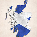 Scotland Map Art With Flag Design by World Art Prints And Designs