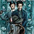 Scottish Terrier Art Canvas Print - Sherlock Holmes Movie Poster by Sandra Sij
