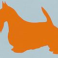 Scottish Terrier Orange by Naxart Studio