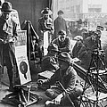 Scouts Camp In Window by Underwood Archives
