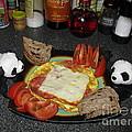 Scrambled Eggs Salami And Cheese For Breakfast. Travelling Baby Pandas Series. by Ausra Huntington nee Paulauskaite