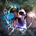 Scrap Skull by Marina Vergult