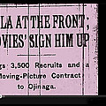 Screen Capture  Newspaper Article  Mutual Film Corporation's  The Life Of General Villa 1914-2013 by David Lee Guss