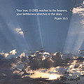 Scripture And Picture Psalm 36 5 by Ken Smith