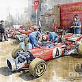 Scuderia Ferrari Paddock Spanish Gp 1971 Ferrari 312b2  by Yuriy Shevchuk