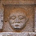 Sculpted Face At Bosra Syria by Robert Preston