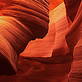 Sculpted Sandstone Upper Antelope Slot Canyon Arizona by Dave Welling