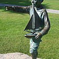 Sculpture - Boy With Sailboat by Christiane Schulze Art And Photography