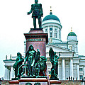 Sculpture Of Alexander II In Cathedral Of Helsinki-finland by Ruth Hager
