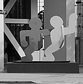 Sculpture On State Street In Black And White  by Rob Hans