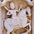 Sculpture On The Royal Cenotaphs Near Jaisalmer In India by Robert Preston